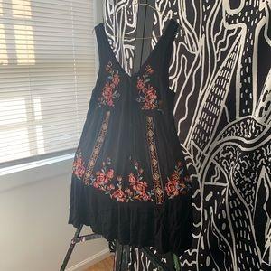 Black Embroidered Mini Dress by Xhilaration